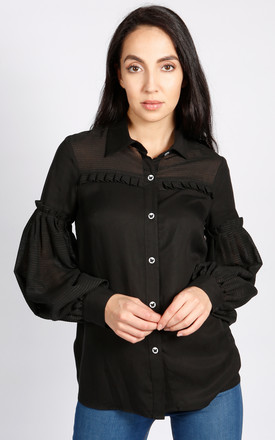 Hudson Balloon Sleeve Blouse In Black by LAGOM Product photo