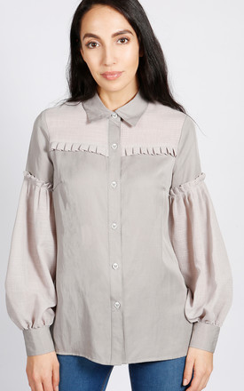 Hudson Balloon Sleeve Blouse In Grey by LAGOM Product photo