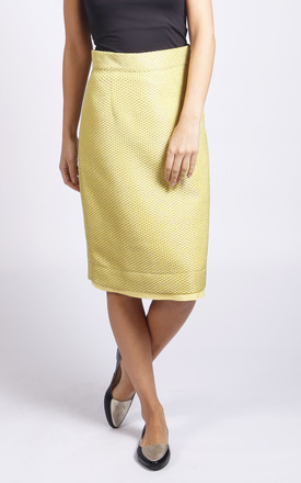 Dorset Pencil Skirt In Yellow by LAGOM Product photo