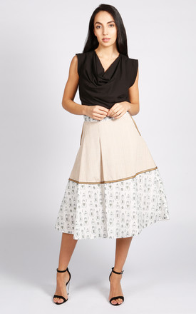 Hampstead Pleated Midi Skirt In Beige by LAGOM Product photo