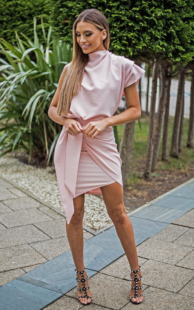 Blush Callie Tailored Wrap Dress by Rag & Doll
