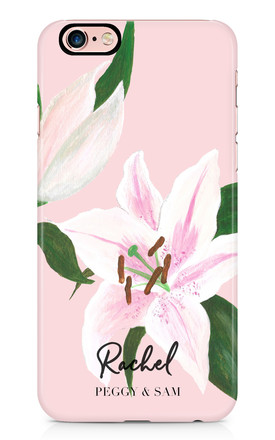Personalised Phone Case in Lily Floral Print by Peggy and Sam
