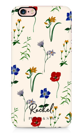 Personalised Phone Case in Wildflowers Print by Peggy and Sam