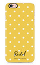 Personalised Phone Case in Yellow Polka Dot by Peggy and Sam