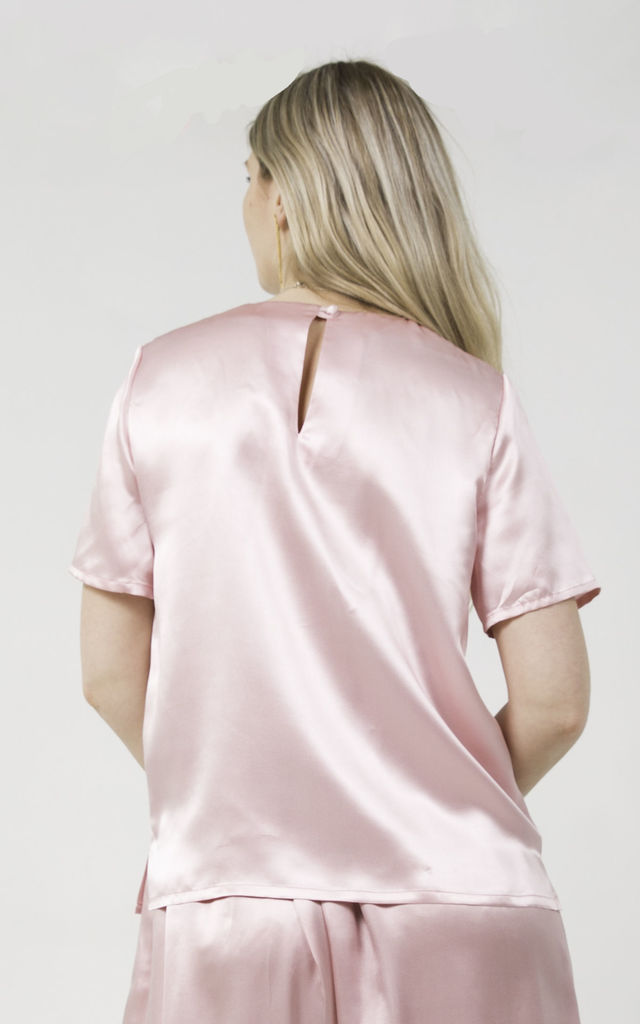 Silk T Shirt in Dusty Pink by Nina Rose
