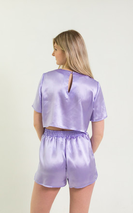 Lyra Silk Pyjamas in Lilac by Nina Rose