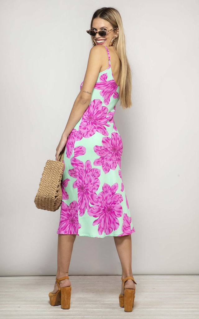 Jade Dress Pink and Mint Bloom image