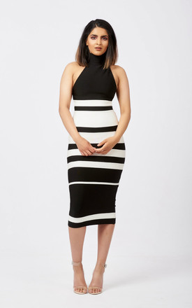 Ophelia Bandage Midi Dress In Monochrome by Ineza collection Product photo