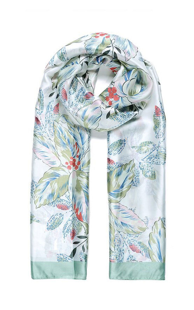 6164f9161e70f Lightweight Scarf In Green Botanical Print | Ruby Rocks Boutique ...