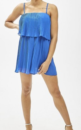 Royal Blue Spaghetti Strap Playsuit by FOXY FROX