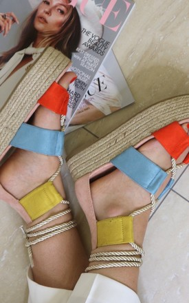 Multi coloured faux suede sandal by Bond Street Shoe Company