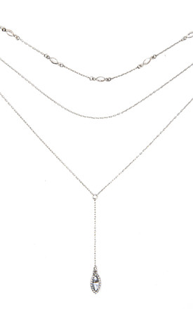 Silver Triple Layered Necklace by Johnny Loves Rosie