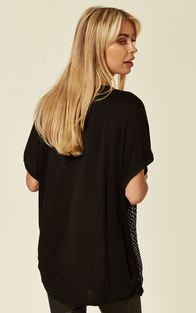Bling Embellished Jersey T Shirt in Black by Malissa J Collection