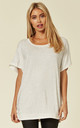 White jersey bling embellished t shirt by Malissa J Collection