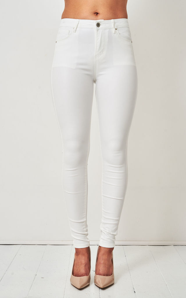 Morgan White Wax Coated Jeans by love frontrow