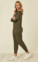 GRACE LOUNGEWEAR SET IN KHAKI by EDDI CLOTHING