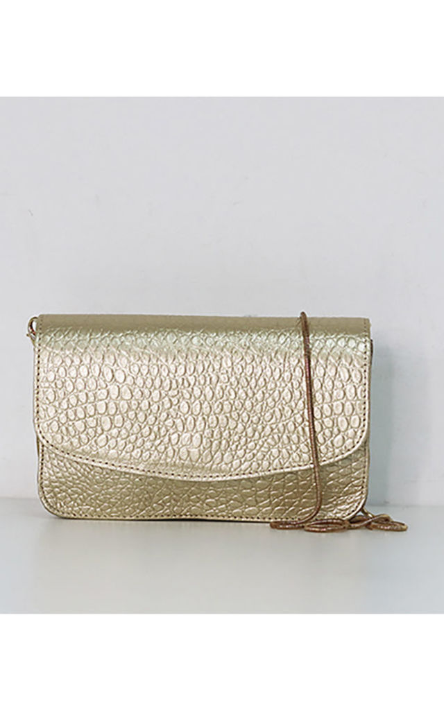 afaf985900f Coco It Envelope Clutch Bag In Gold | THE CODE HANDBAGS | SilkFred