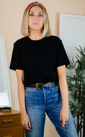 Organic Cotton T-shirt in Black by Rock On Ruby