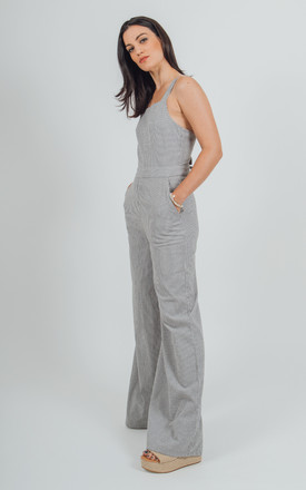 Skagen organic cotton stripe jumpsuit with low back by VILDNIS