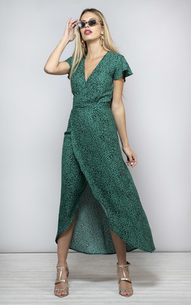 Cayenne Dress In Green Leopard by Dancing Leopard Product photo