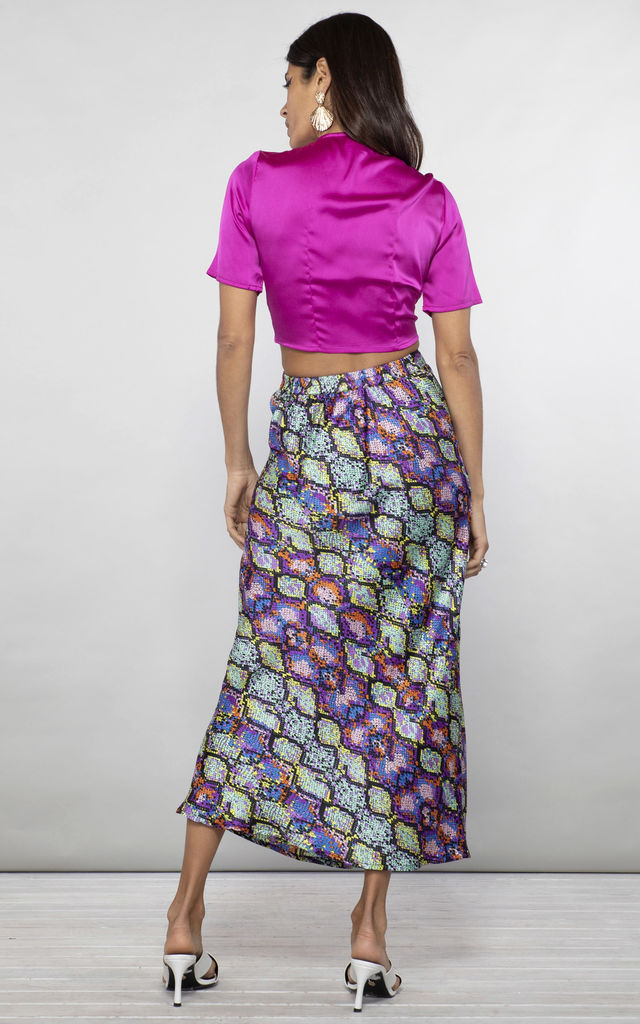 RENZO SKIRT IN MULTI SNAKE by Dancing Leopard