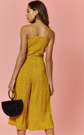 Yellow Spot Culotte Jumpsuit by Glamorous