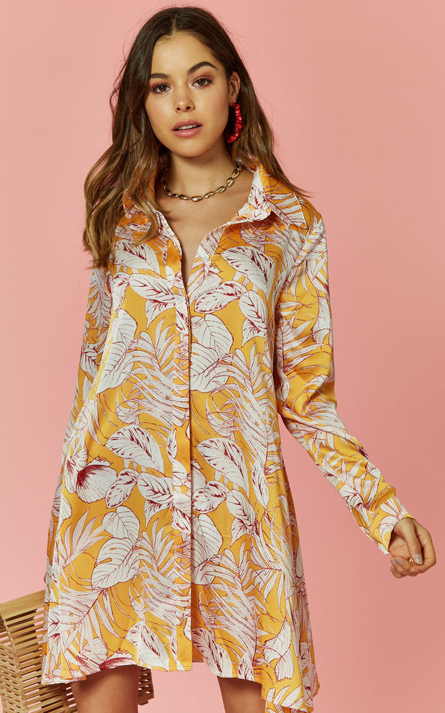 Tropical Print Swing Shirt by Glamorous