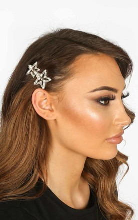 Silver Star Diamante Hair Slide by Dressed In Lucy