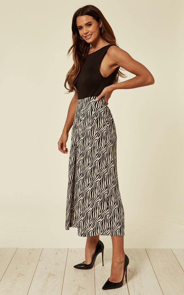 Culottes in Black and Off White Zebra Print by Till We Cover