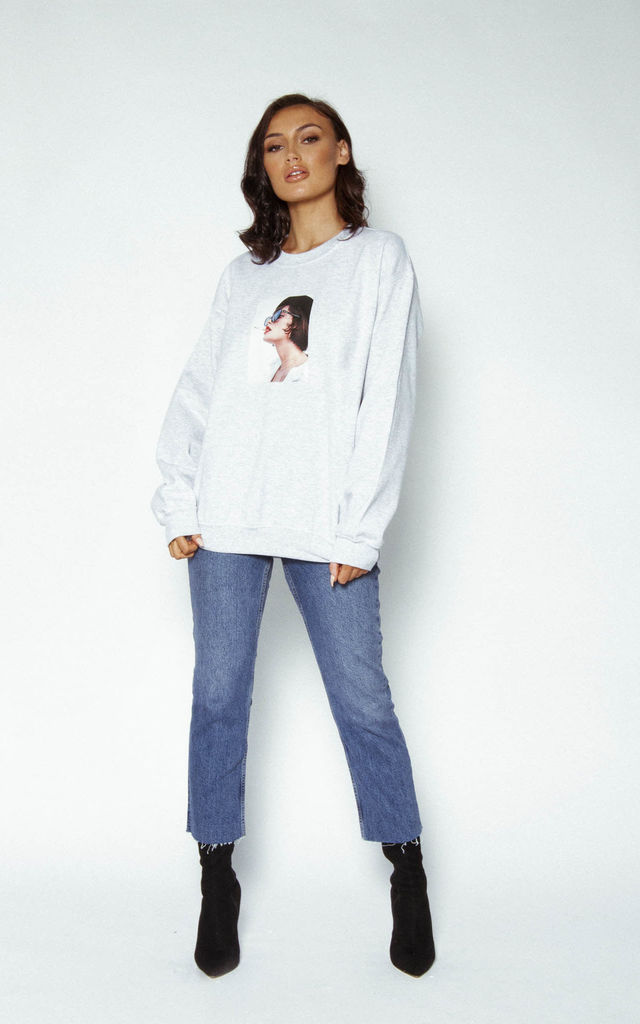 'Youth' Graphic Sweatshirt in Grey by Awfully Pretty