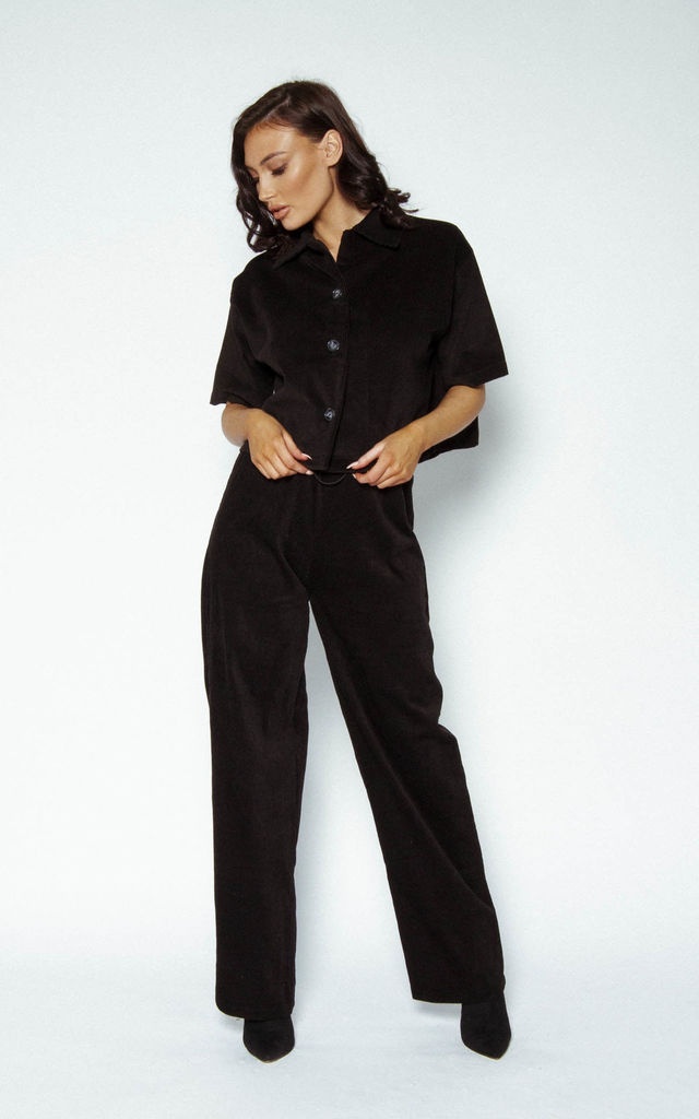 'All Black Everything' Cord Trousers by Awfully Pretty