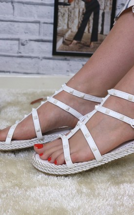 White Strappy Sandals by Bond Street Shoe Company