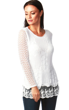 Natalie White Crochet Top by Want That Trend