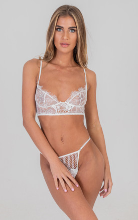 Two Piece embroidered Lingerie White by Saint Genies