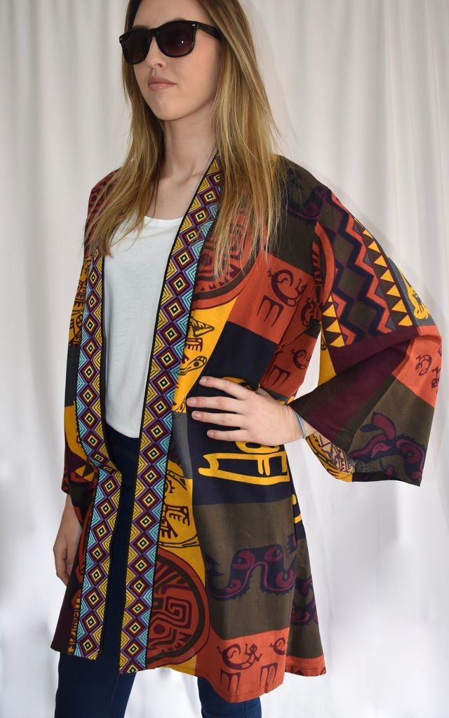 OPEN FRONT KIMONO in SCARF PRINT by Love Modest Fashion