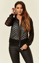 Light Bomber Jacket in Black Floral Lace Crochet by CY Boutique