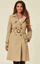 Alexis Beige Showerproof Trench Coat by De La Creme Fashions