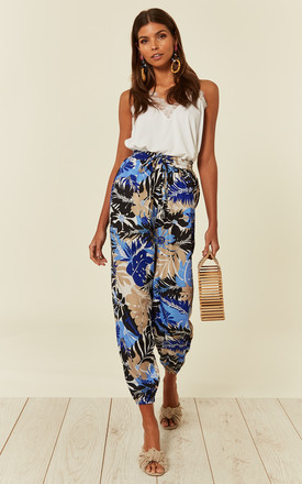 Blue Tropical Print Trouser by Clothes Minded