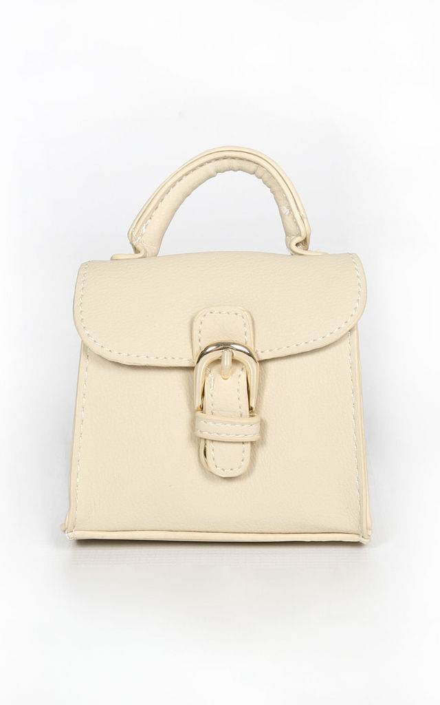 Micro Tote Bag in cream by Dressed In Lucy
