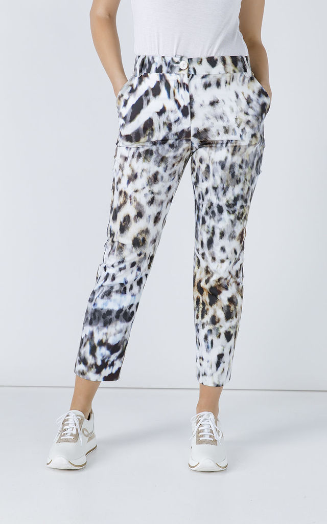 Animal Print Fitted Pants by Conquista Fashion