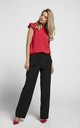 Loose Leg Trousers with Pockets in Black by Bergamo