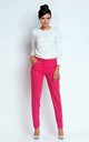 Straight Leg Office Trousers with Pockets in Pink by Bergamo