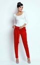Elastic Trousers Tied at Waist with Pockets in Red by Bergamo
