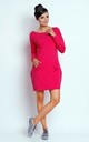 Loose Cotton Mini Dress with Long Sleeve in Pink by Bergamo