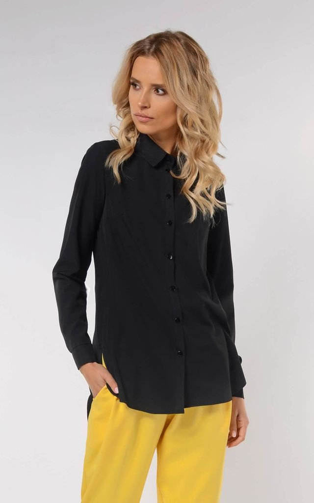 Classic Loose Shirt in Black by Bergamo