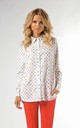 Classic Loose Shirt in White with Dots by Bergamo