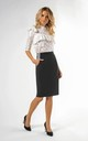 Pencil Skirt with High Waist and Pockets in Black by Bergamo