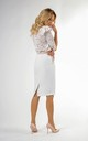 Pencil Skirt with High Waist and Pockets in White by Bergamo