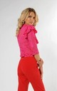 Lace Top with Frill and 3/4 Sleeve in Pink by Bergamo