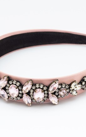 Amelie Pink band Embellished with Clear and Pink Crystal Diamonte Headband by 3 Little Girls and Co